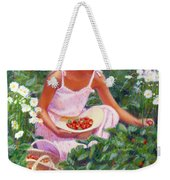 Picking Strawberries Weekender Tote Bag
