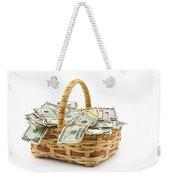 Picnic Basket Full Of Money Weekender Tote Bag