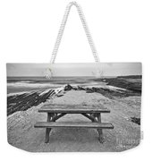 Picnic - Lone Table Overlooking The Ocean In Montana De Oro State Park In Caliornia Weekender Tote Bag
