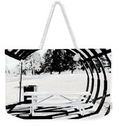 Picnic Table And Gazebo Weekender Tote Bag