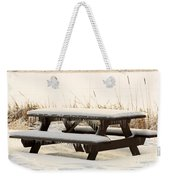 Picnic Table In Winter Weekender Tote Bag