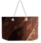 Picture Of An Animal Etched Into Red Weekender Tote Bag