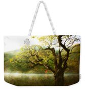 Picturesque Foggy Lake Weekender Tote Bag