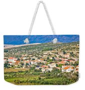 Picturesque Mediterranean Island Village Of Kolan Weekender Tote Bag