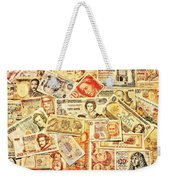 Pieces Of Paper Weekender Tote Bag