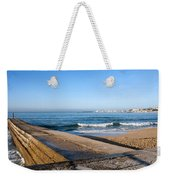 Pier And Beach By The Atlantic Ocean In Cascais Weekender Tote Bag