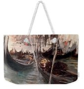 Pier And Saint Marc In Venice Weekender Tote Bag