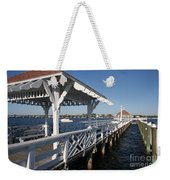 Clock Tower Pier Weekender Tote Bag