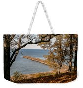 Pier In The Fall Weekender Tote Bag