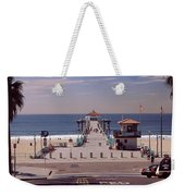 Pier Over An Ocean, Manhattan Beach Weekender Tote Bag