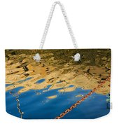 Pier Reflection And Rusty Chain Weekender Tote Bag