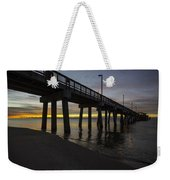 Pier Sunrise On A Cold January Morning Weekender Tote Bag