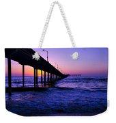 Pier Sunset Ocean Beach Weekender Tote Bag