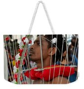 Pierced Hindu Devotee Wears Kavadi At Thaipusam Singapore Weekender Tote Bag