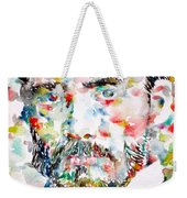 Pierre-auguste Renoir Watercolor Portrait Weekender Tote Bag