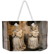 Pierre Jeannin And His Wife Sculpture Cathedral Autun Weekender Tote Bag