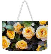 Pierre's Peach Roses Weekender Tote Bag