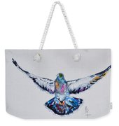 Pigeon In Flight Weekender Tote Bag