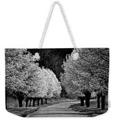 Pigeon Mountain Dogwoods In Black And White Weekender Tote Bag