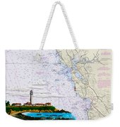 Pigeon Point Lighthouse On Noaa Nautical Chart Weekender Tote Bag