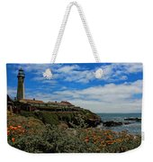Pigeon Point Lighthouse Painted Weekender Tote Bag