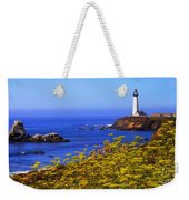 Pigeon Point Lighthouse Panoramic Weekender Tote Bag