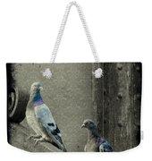 Pigeons In Damask Weekender Tote Bag