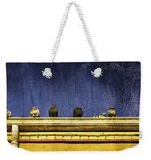 Pigeons On Yellow Roof Weekender Tote Bag