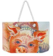 Piggy In Pearls Weekender Tote Bag