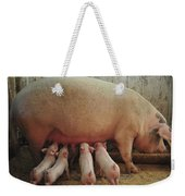 Momma Pig And Piglets Weekender Tote Bag by Terry DeLuco