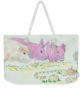 Pigs Cartoon Weekender Tote Bag