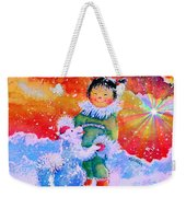 Pigtails And Wagging Tail Weekender Tote Bag