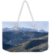 Pike National Forest In Snow Weekender Tote Bag
