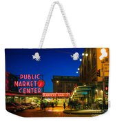 Pike Place Market Weekender Tote Bag by Inge Johnsson
