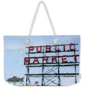 Pike Place Market Weekender Tote Bag by Linda Woods