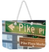 Pike Place Market Sign Weekender Tote Bag