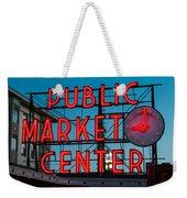 Pike Place Public Market Seattle Weekender Tote Bag