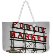 Pike Place Public Market Sign Weekender Tote Bag