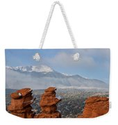 Pikes Peak In The Clouds Weekender Tote Bag