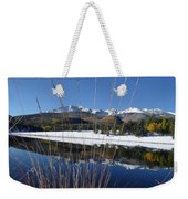 Pikes Peak Through The Grass Weekender Tote Bag
