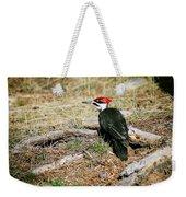 Pileated Woodpecker Forest Floor Weekender Tote Bag