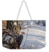 Pileated Woodpecker Winter Weekender Tote Bag