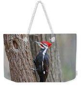 Pileated Woodpecker Foraging Weekender Tote Bag