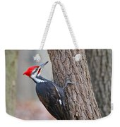Pileated Woodpecker On Tree Weekender Tote Bag