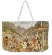Pilgrims At Gangootree, From India Weekender Tote Bag