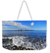 Pilings In The Ocean Weekender Tote Bag