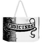 Pill Bottle, 19th Century Weekender Tote Bag