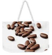 Pills On White Weekender Tote Bag