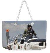 Pilot Standing In  A Socata Tb-30 Weekender Tote Bag