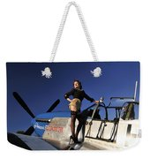 Pin-up Girl Standing On The Wing Weekender Tote Bag